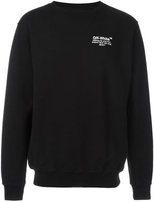 Off-White embroidered sweatshirt $458 thestylecure.com