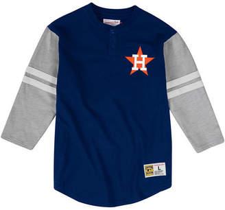 Mitchell & Ness Men Houston Astros Heyday Henley T-Shirt