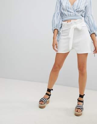 PrettyLittleThing Paper Bag Waist Shorts