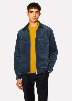 Paul Smith Men's Slate Blue Corduroy Stretch-Cotton Patch-Pocket Jacket