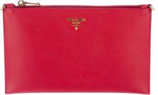 pradaPrada Saffiano Leather Wristlet