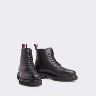 Tommy Hilfiger Chunky Leather Lace-Up Boot