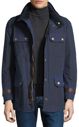 Stefano Ricci Men's Waxed Cotton Sport Jacket
