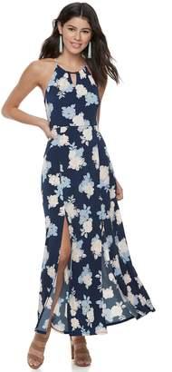 Candies Juniors' Candie's Print Halter Maxi Dress