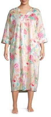 Miss Elaine Plius Floral Cotton Sleep Dress