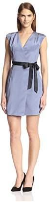 Society New York Women's Cap Sleeve Wrap Dress