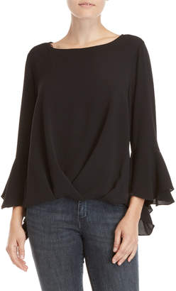Vince Camuto Black Twisted Front Blouse