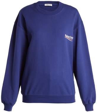 Balenciaga Logo-print cotton sweatshirt