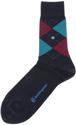 Burlington Mens Edinburgh Argyle Socks - /Green/Burgundy