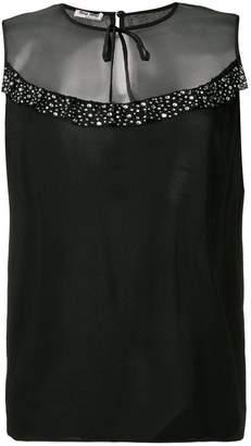 Miu Miu embellished smock dress