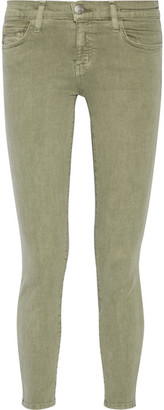 Current/Elliott - The Stiletto Mid-rise Skinny Jeans - Army green $210 thestylecure.com