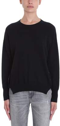 Mauro Grifoni Black Wool Sweater