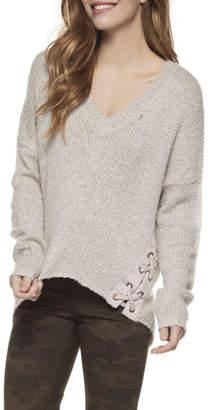 Dex Lace Up Eyelet Sweater