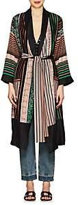 Warm Women's Dawn Striped Silk Robe