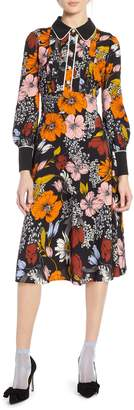 Halogen x Atlantic-Pacific Floral Print A-Line Dress