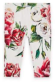 Dolce & Gabbana Infants' Rose-Print Stretch-Cotton Leggings