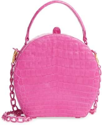 Nancy Gonzalez Genuine Crocodile Circle Bag