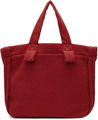 Comme des Garcons Red Wool Tote