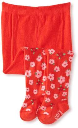 Country Kids Girl's Floral Print Tights, (Manufacturer Size:)