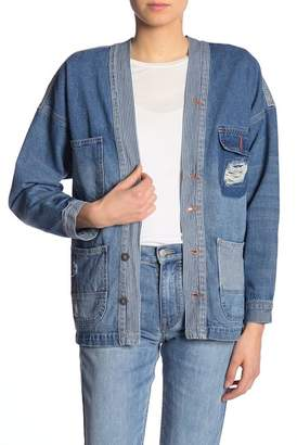 UNIONBAY Ashland Distressed Workwear Denim Jacket