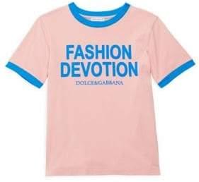 Dolce & Gabbana Little Girl's& Girl's Cotton Fashion Devotion Tee