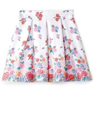 Yumi Girls Bright Floral Print Skirt