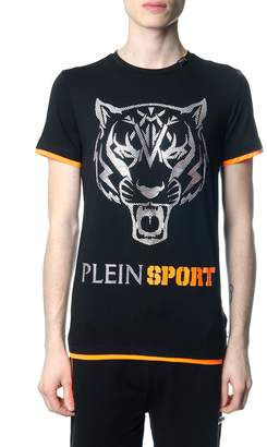 Philipp Plein Fast Black And Orange T-shirt