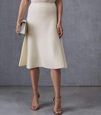 Reiss Our last order date for Christmas has now passed AMY FLUTED HEM SKIRT White