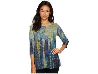 FDJ French Dressing Jeans Multi Lace Print Tunic Women's Blouse