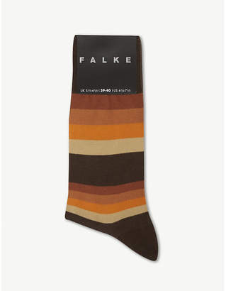 Falke Seasonal filter stripe cotton-blend socks