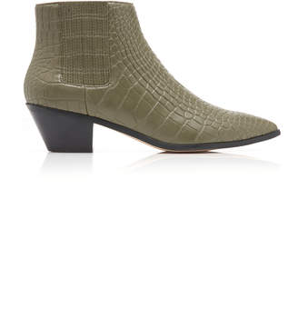 Nanushka Risa Crocodile Vegan Leather Booties
