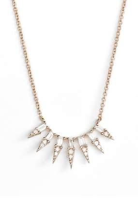 Dana Rebecca Designs Sadie Pearl Seven Dagger Diamond Necklace