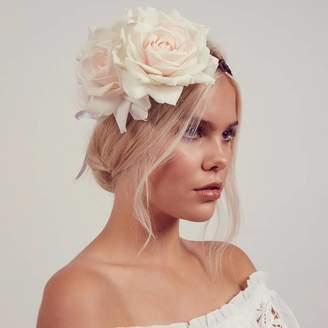 Arabella ROCK 'N ROSE Cream Rose Floral Crown Headband