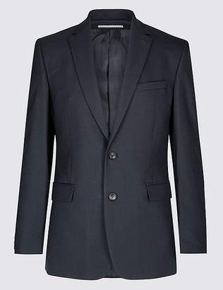 Marks and Spencer Navy Textured Tailored Fit Jacket