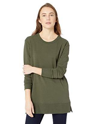 Daily Ritual Women's Terry Cotton and Modal Side-Vent Tunic