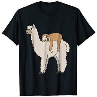 Sloth Chilling On Llama Back T-Shirt Men Women Kids