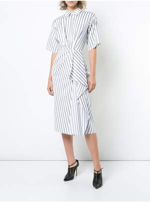 Jason Wu X Hotel Esencia Striped Poplin Shirt Dress