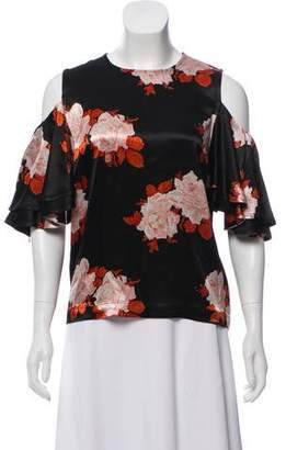 Ganni Printed Short Sleeve Top