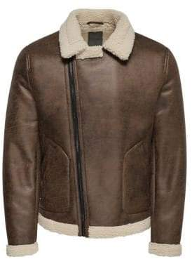 ONLY & SONS Sherpa-Lined Aviator Jacket