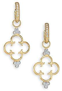Jude Frances Women's Classic Diamond & 18K Yellow Gold Clover Charm Earring Charms