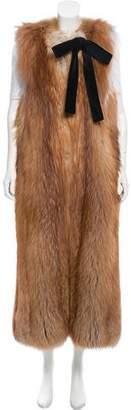 Roksanda Longline Gold Fox Vest
