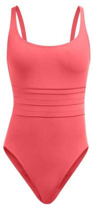Eres Les Essentials Duni Asia Ribbed Swimsuit - Womens - Pink