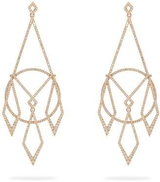 Diane Kordas Diamond & 18kt rose-gold earrings