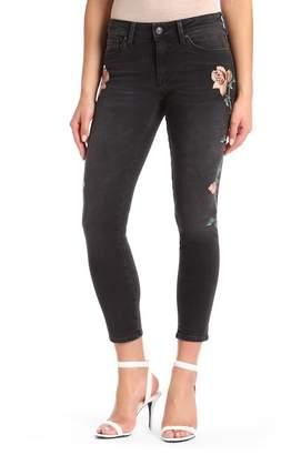 Mavi Jeans Adriana Embroidered Skinny Jeans