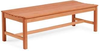 Vifah Malibu Outdoor Patio 5-Foot Wood Backless Garden Bench
