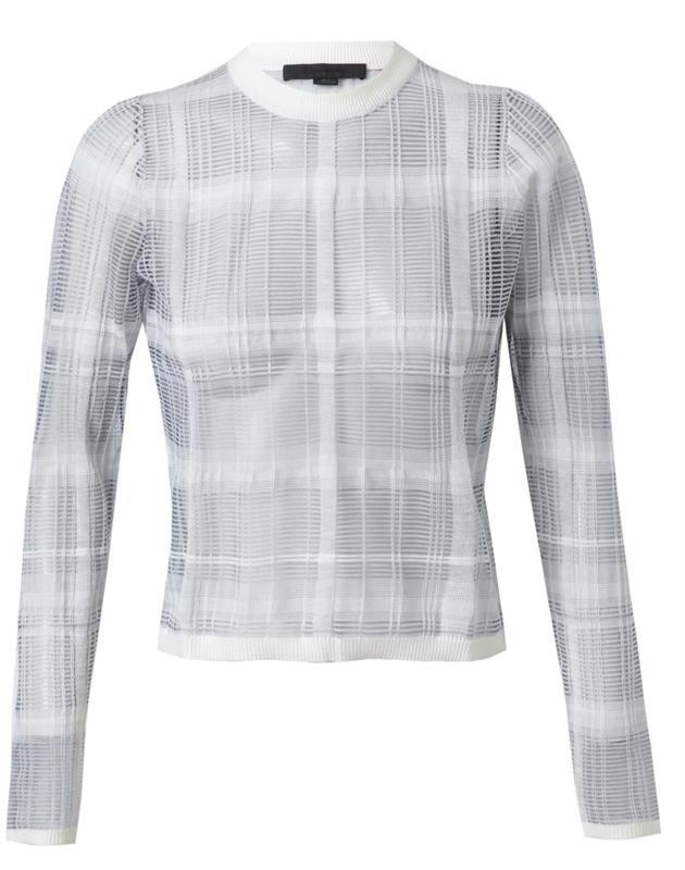 ALEXANDER WANG Cotton-wool Trompe L'oeil Plaid Sweater