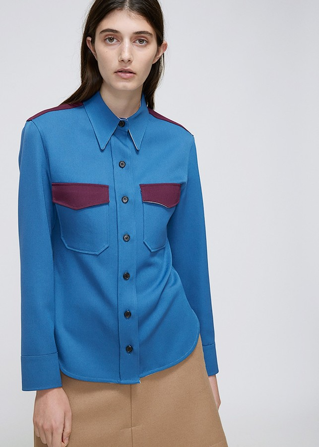 CALVIN KLEIN 205W39NYC Colorblock Pocket Shirt
