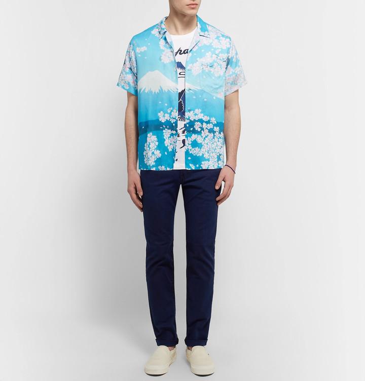 Blue Blue Japan Camp-Collar Printed Woven Shirt 3