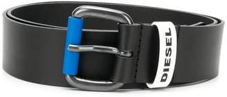 Diesel leather belt with contrast loop