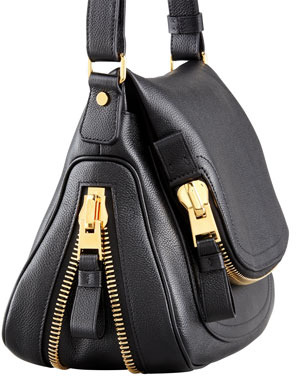 Tom Ford Jennifer Calfskin Crossbody Bag, Black